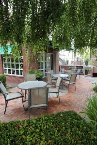 Garten Hotel am Boltentor, seitlich, Sitzecke